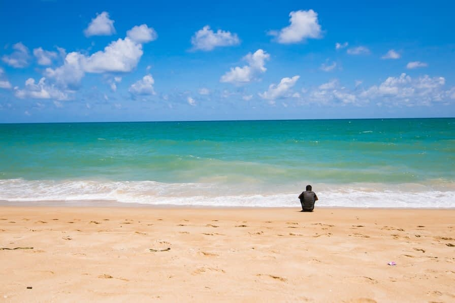patong beach travel monk rider